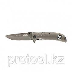 Нож туристический, складной 210мм/90мм системы Liner-Lock, металлическая рукоятка// Барс