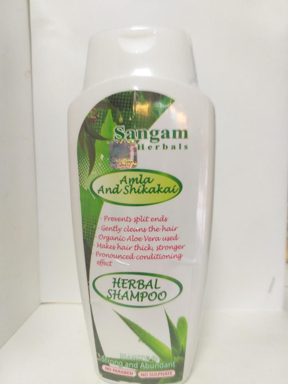 """Шампунь для волос травяной """"Амла и Шикакай"""" , 200 мл, Sangam Herbals"""