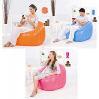 Кресло надувное 74х74х64 см, max 80 кг, Bestway 75046, поверхность флок