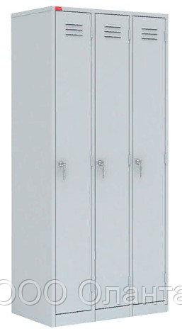 Шкаф для одежды трехсекционный (900х500х1860) арт. ШРМ33