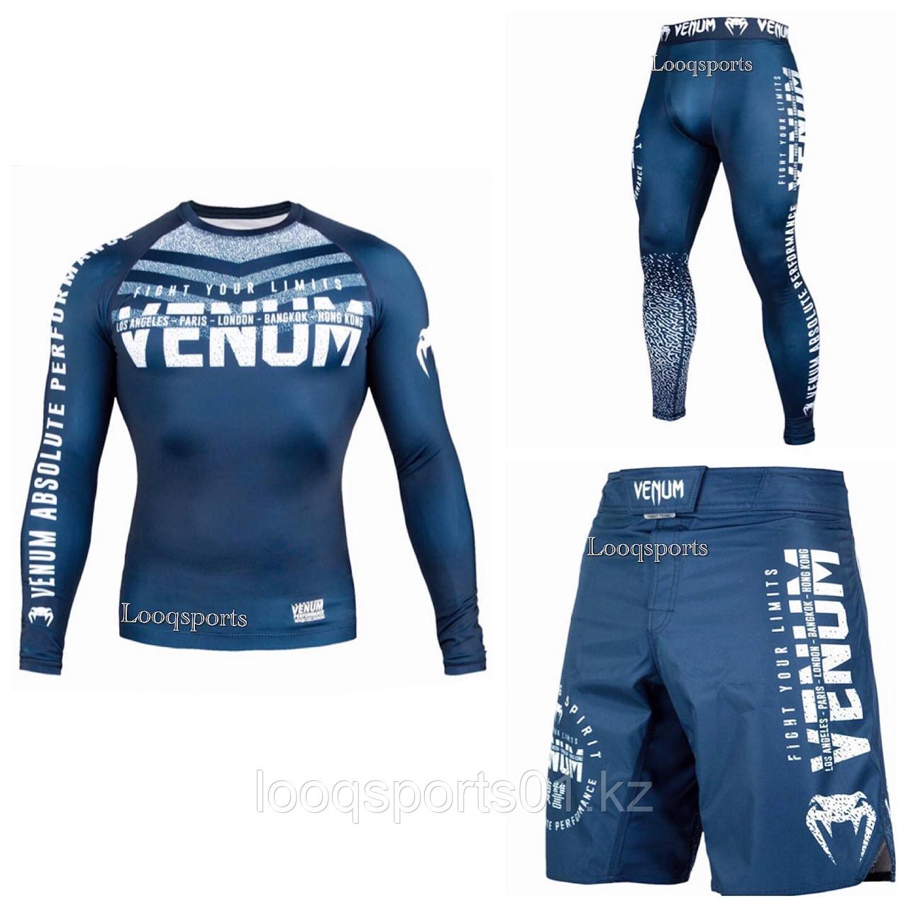 Рашгард 3в1 VENUM SIGNATURE NAVY BLUE/WHITE