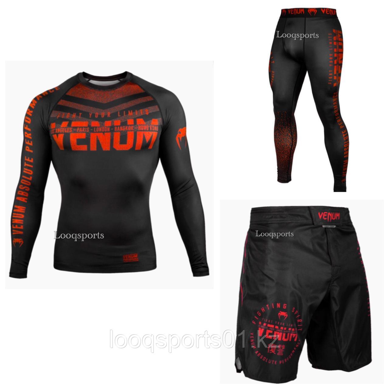 Рашгард 3в1 Venum Signature Black/Red
