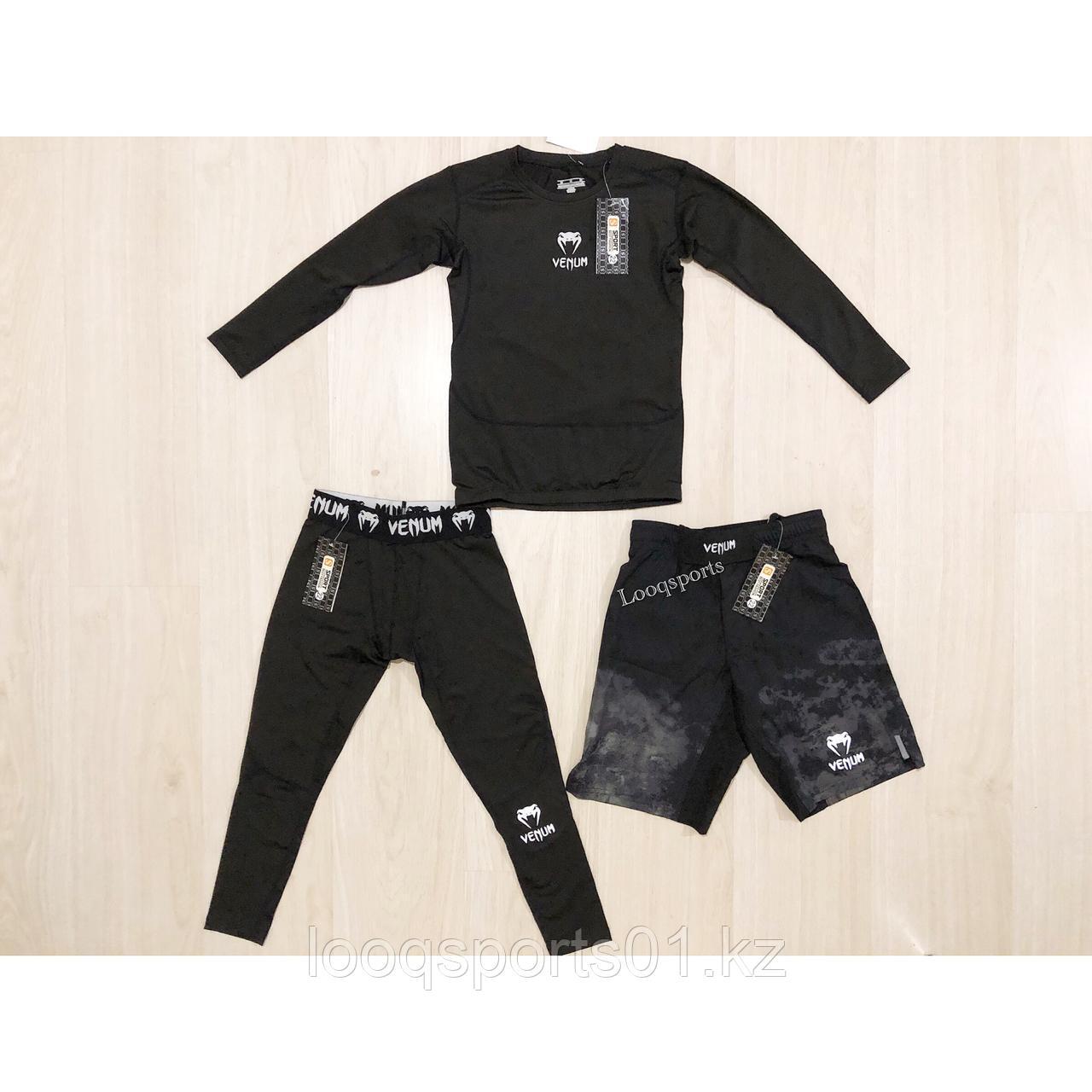 Детский комплект Venum 3в1 (Рашгард + шорты мма + леггинсы)