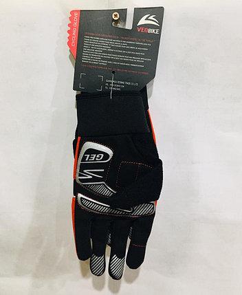 Перчатки велосипедные с пальцами VeoBike Размер L (цвет красный), фото 2