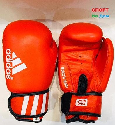 Перчатки для бокса и единоборств Adidas 8-OZ кожа (цвет красный), фото 2