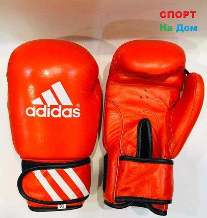 Перчатки для бокса и единоборств Adidas 12-OZ кожа (цвет красный), фото 2
