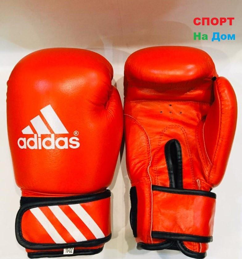 Перчатки для бокса и единоборств Adidas 10-OZ кожа (цвет красный)