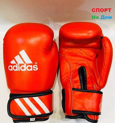 Перчатки для бокса и единоборств Adidas 10-OZ кожа (цвет красный), фото 2