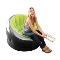 Кресло надувное 112х109х69 см, max 100 кг, Intex 68581, поверхность флок