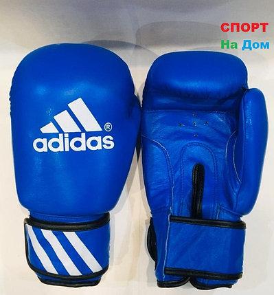 Перчатки для бокса и единоборств Adidas 12-OZ кожа (цвет синий), фото 2