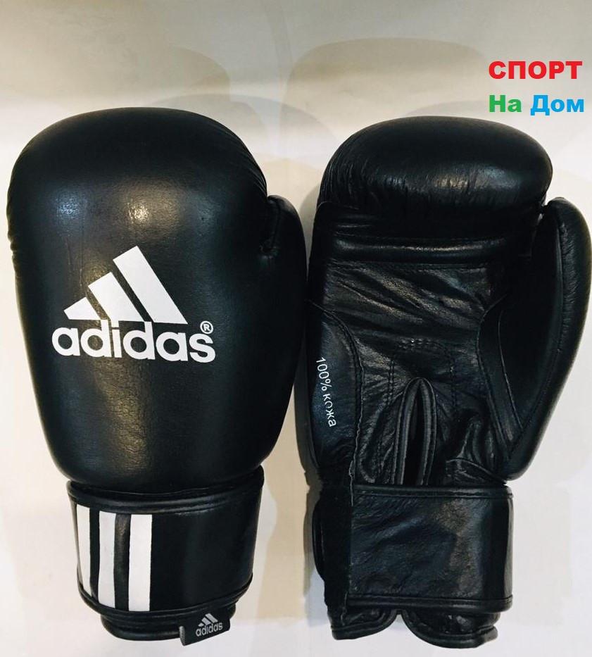 Перчатки для бокса и единоборств Adidas 8-OZ кожа (цвет черный)