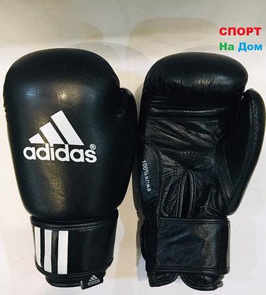 Перчатки для бокса и единоборств Adidas 8-OZ кожа (цвет черный), фото 2