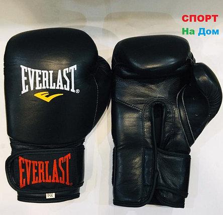 Перчатки для бокса и единоборств Everlast 8-OZ кожа (цвет черный), фото 2