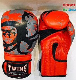 Перчатки для бокса и единоборств Twins 10-OZ кожа (цвет красный)