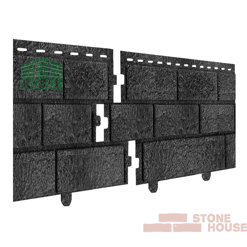 Фасадная панель акриловая Stone House (графитовый кирпич)