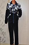 Женский брючный костюм, велюр набивной, фото 2