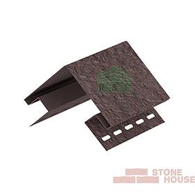 Наружный угол Stone House (коричневый кирпич)