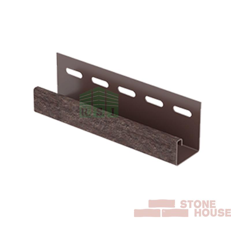 J-планка Stone House (коричневый кирпич)