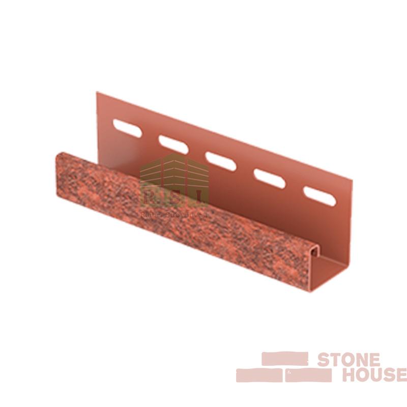J-планка Stone House (красный кирпич)