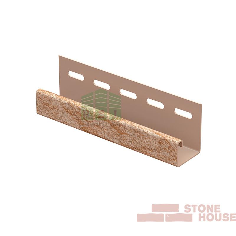 J-планка Stone House (золотистый камень)