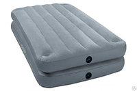 Кровать надувная 2 в 1, 191х99х46 см, max 136 кг, Intex 67743, поверхность флок, фото 1