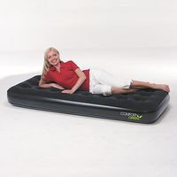 Матрас надувной односпальный 185х76х22 см, max 180 кг, Bestway 67379, поверхность флок