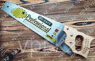 Ножовка по дереву  с деревянной ручкой, tpi 7-8, 450мм.