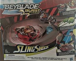 Hasbro набор битвы Beyblade Burst Turbo Slingshock Rail Раш