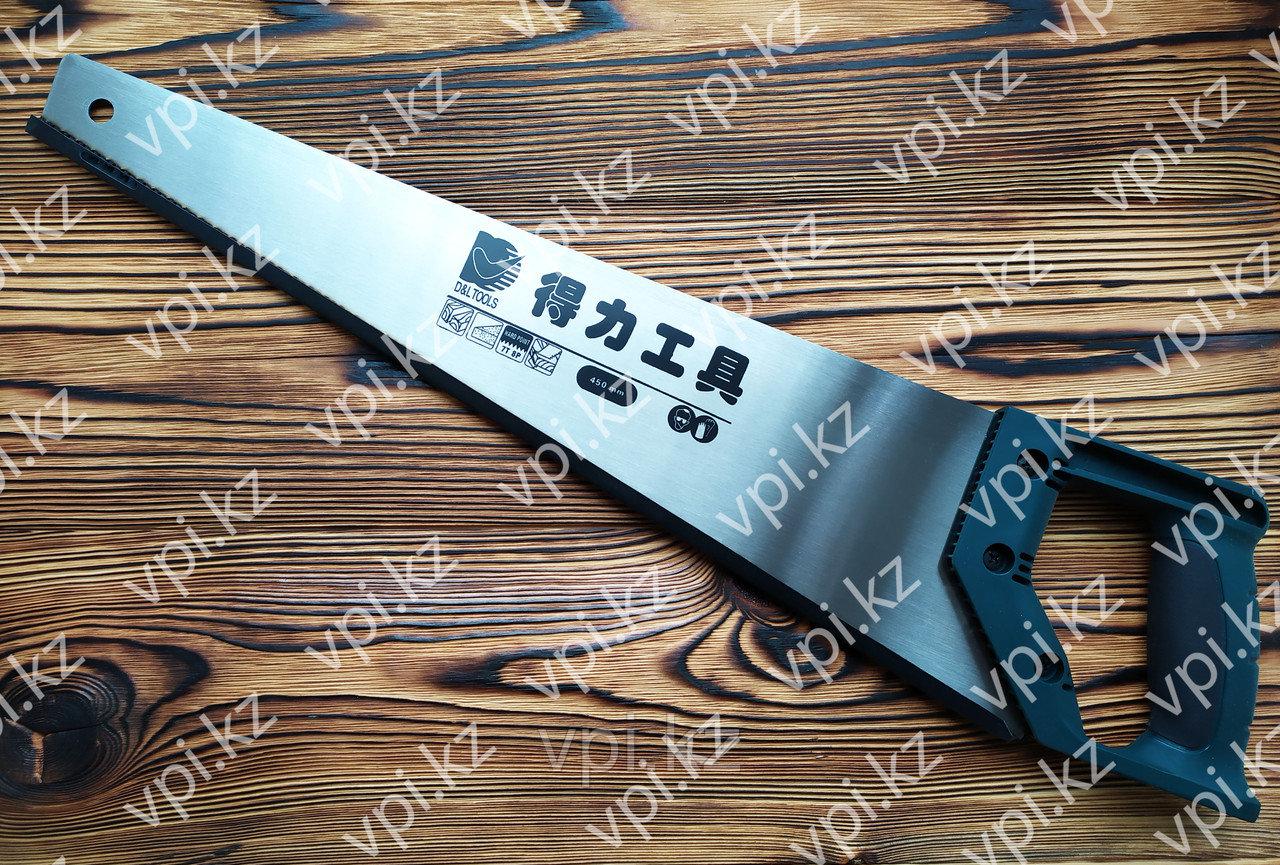 Ножовка по дереву, tpi 7-8,  450мм.,  De&Li