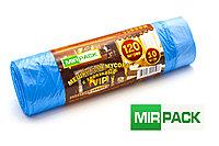 """Пакет  с завязками 120 л, 10 шт/рул """"VIP"""", ПНД, 15 мкм, размер 75*80 см, синие, фото 1"""