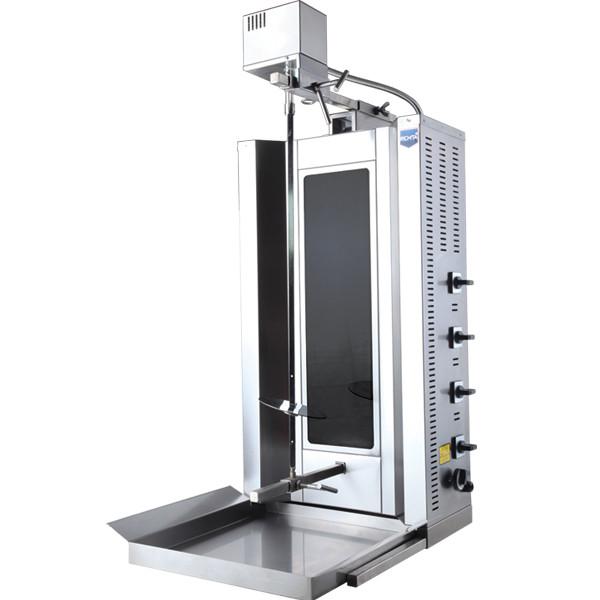Донер аппарат электрический  с мотором стеклокерамика ( 4 теновый)