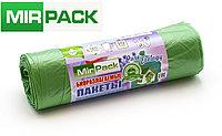 """Пакет  био 120л, 10шт/рул """"PURE ECOLOGY"""" биоразлагаемые, ПНД, 12 мкм, размер 70х110 см, зеленые, фото 1"""