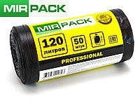 "Мусорный пакет  120 л, 50 шт/рул  ""PROFESSIONAL"", ПНД, 12мкм, размер 70*110 см, черные, фото 1"