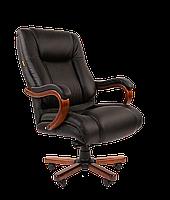 Кресло офисное для руководителя CHAIRMAN 503, кожа натуральная (в наличии коричневое)