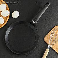 Сковорода блинная «Традиция», d=22 см, съёмная ручка, антипригарное покрытие
