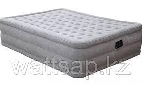 Кровать надувная двуспальная 203х152х46 см, max 273 кг, Intex Ultra Plush Bed 66958, поверхность флок, встроенный насос