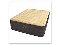Кровать надувная двуспальная 203х152х46 см, max 273 кг, Intex Plush Bed 67710, поверхность флок, встроенный насос