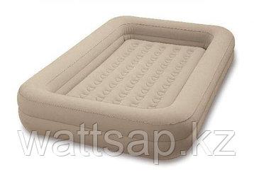 Кровать надувная детская 168х107х25 см, Intex 66810, поверхность флок