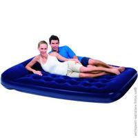 Матрас надувной двуспальный 203х152х22 см, max 273 кг, Bestway 67226, поверхность флок, встроенный ножной насос