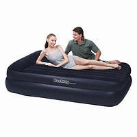 Кровать надувная двуспальная 203х152х38 см, max 273 кг, Bestway 67457, поверхность флок, электронасос
