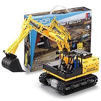 Конструктор типа Лего экскаватор на радиоуправлении Катерпилар Cada