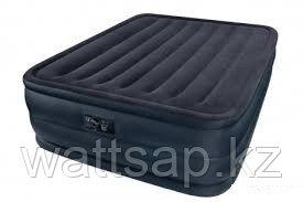 Кровать надувная двуспальная 203х152х56 см, max 273 кг, Intex 66718, поверхность флок, встроенный насос