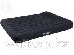 Матрас надувной двуспальный 203х152х30 см, max 273 кг, Intex 66769, поверхность флок
