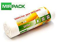"""Мусорный пакет 60л, 20 шт/рул """"EXTRA"""", ПНД, 12 мкм, размер 60х70 см, ,белые, фото 1"""