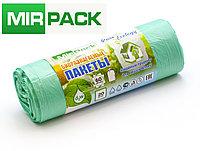 """Пакет био  60л, 20шт/рул """"PURE ECOLOGY"""" биоразлагаемые, ПНД, 7 мкм, размер 60х70 см,зеленые, фото 1"""