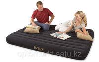 Матрас надувной двуспальный 203х152х23 см, max 215 кг, Intex 66725, поверхность флок