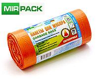 """Мусорный пакет 35л, 30 шт/рул """"EXTRA"""", ПНД, 12 мкм, размер 50х64 см, оранжевый, фото 1"""