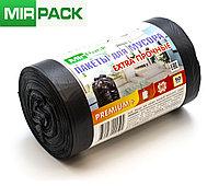 """Мусорный пакет  30л, 50 шт/рул """"PREMIUM+"""", ПСД, 20 мкм, размер 50х60 см, черные, фото 1"""
