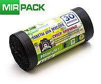 """Мусорный пакет 30л,15 шт/рул """"PREMIUM+"""", ПСД, 20 мкм, размер 50х60 см, черные, фото 1"""