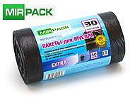 """Мусорный пакет 30л, 50 шт/рул """"EXTRA"""", ПНД, 12 мкм, размер 50х60 см, черные, фото 1"""